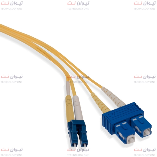 پچ کورد فیبر نوری برندرکس SC-LC داپلکس سینگل مود یا brand-rex SC-LC Duplex single mode patch cord-HOPSC008xxxLC203