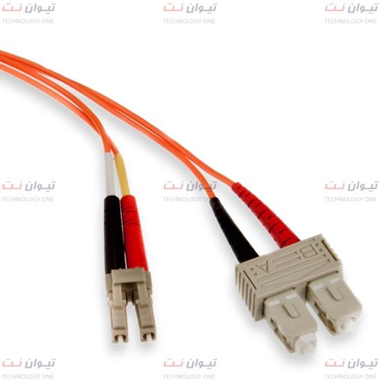 پچ کورد فیبر نوری برندرکس SC-LC داپلکس مالتی مود یا brand-rex SC-LC Duplex Multi mode OM1 patch cord-HOPSC062xxxLC293