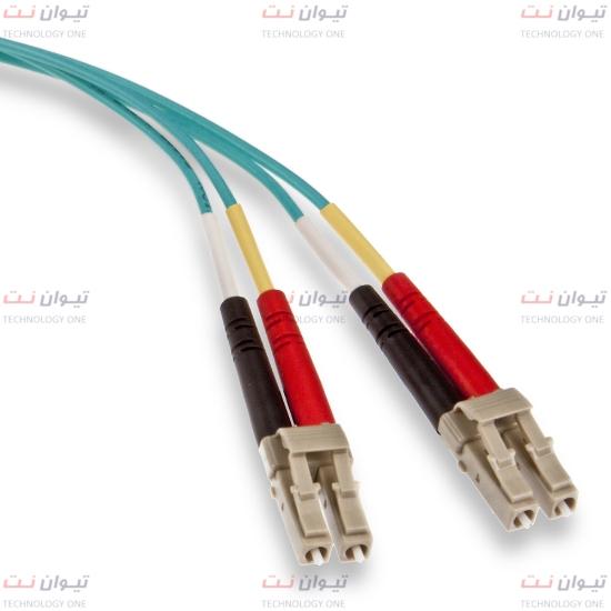 پچ کورد فیبر نوری برندرکس LC-LC داپلکس مالتی مود یا brand-rex LC-LC Duplex multi mode OM3 patch cord-HOPLCOM3xxxLC253