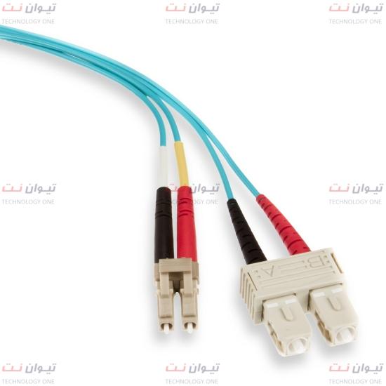 پچ کورد فیبر نوری برندرکس LC-SC داپلکس مالتی مود یا brand-rex LC-SC Duplex Multi mode OM3 patch cord-HOPLCOM3xxxLC253